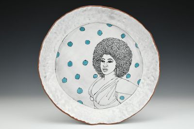 Natural Hair Series Dinner Plate