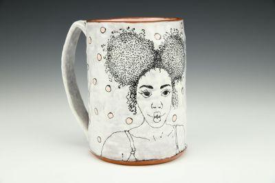 Afro Puff Beer Mug