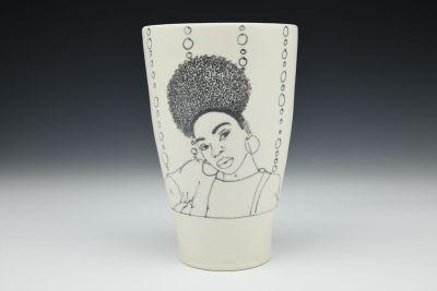 Natural Hair Vase