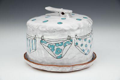 Blue Undies Butter Dish