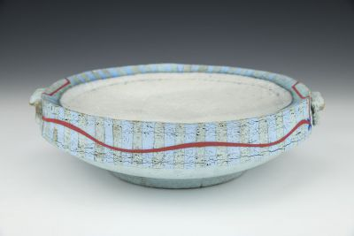 Red Stripe Hollow Dish