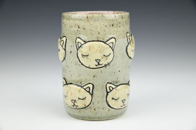 Cat Faces Tumbler With Speckles
