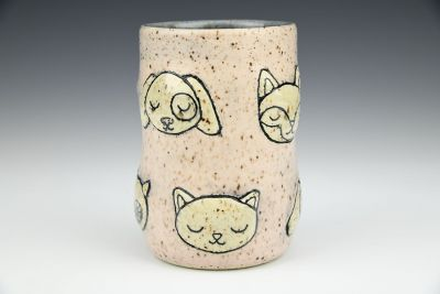 Critter Faces Tumbler with Speckles