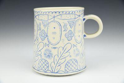 Blue Line Pattern Mug