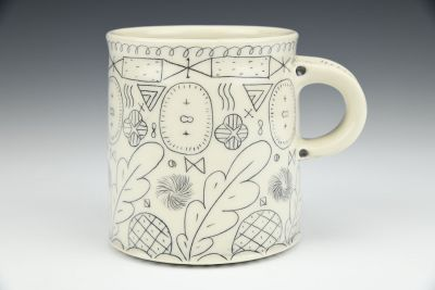 Black Line Pattern Mug