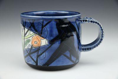 Blue Flashlight Mug