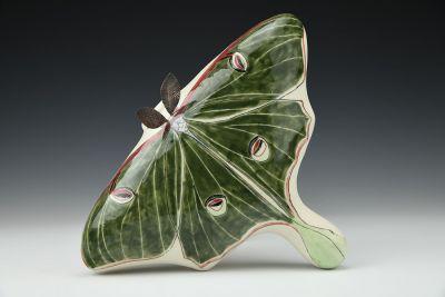 Luna Moth Wall Vase
