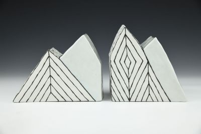 Mountain Shaped Bookends