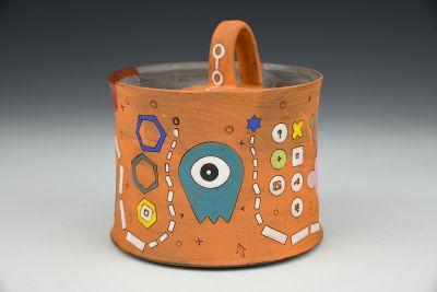 Orange Alien Sugar Pot