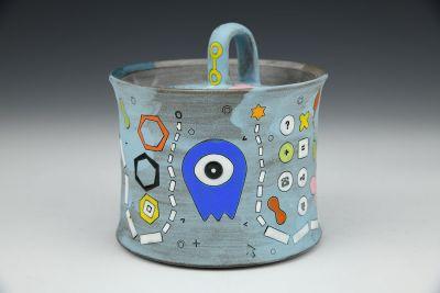 Blue Alien Sugar Pot
