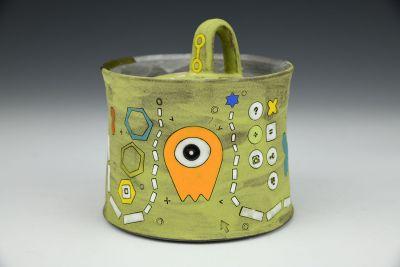 Chartreuse Alien Sugar Pot