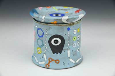 Blue Alien French Butter Dish