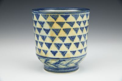Blue Triangles Teabowl