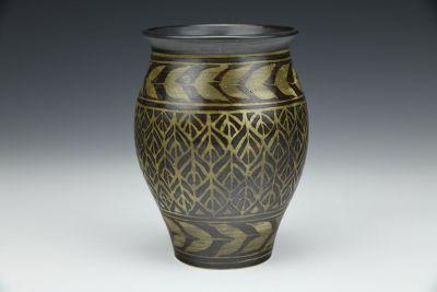 Black Leaves Vase
