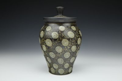 Covered Dots Jar