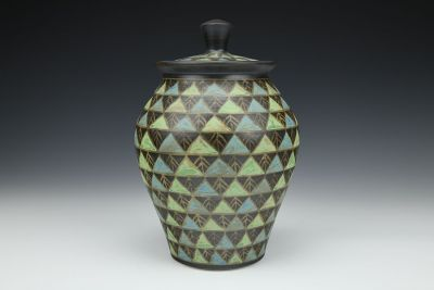 Covered Triangles Jar