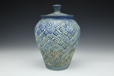 Covered Blue Diamonds Jar