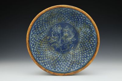 Ochre and Blue Bowl