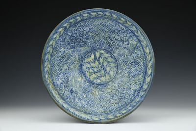 Deep Blue and White Bowl