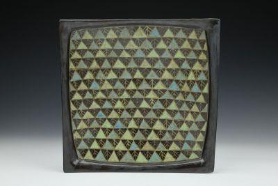 Black Triangles Square Plate