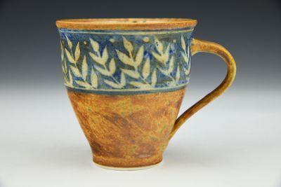 Ochre and Blue Mug