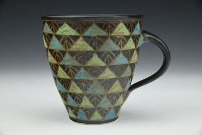 Black with Triangles Mug