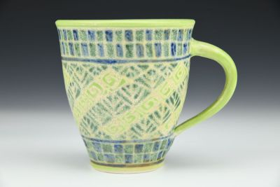 Greens and Blue Mug