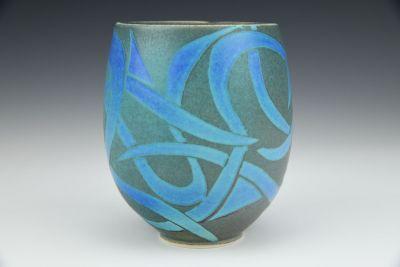 Yunomi Blue Grey Vines