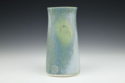 Light Blue Square Vase