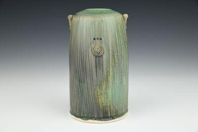 Dark Green Round Vase
