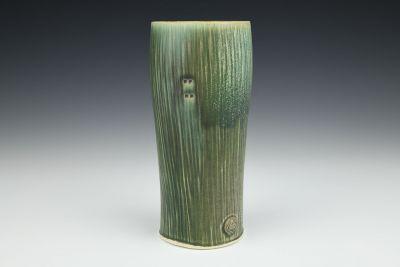 Dark Green Tall Round Tumbler