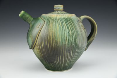 Dark Green Teapot