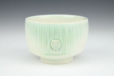 Light Green and White Small Bowl