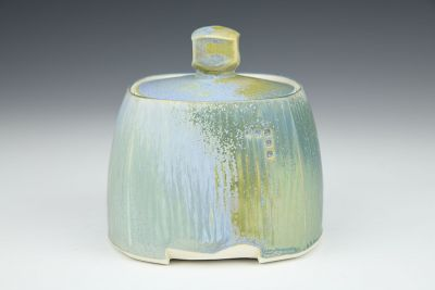 Square Blue Jar
