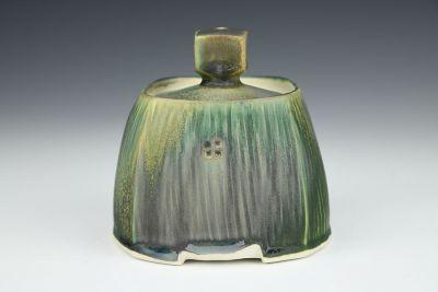 Square Green Jar