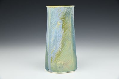 Square Blue Vase