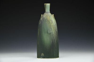 Flat Green Bottle