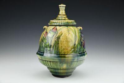 Lidded Floral Jar 1