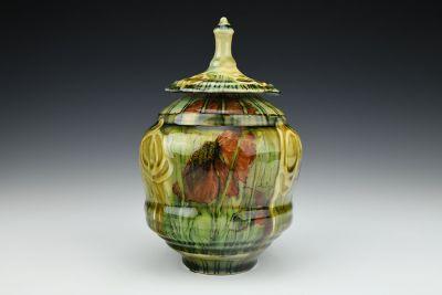 Lidded Floral Jar 3