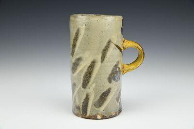 Mug with Spontaneous Swipes and Flowers