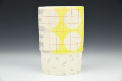 Yellow and Gray Cup