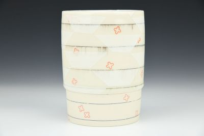 White Trapezoid Cup