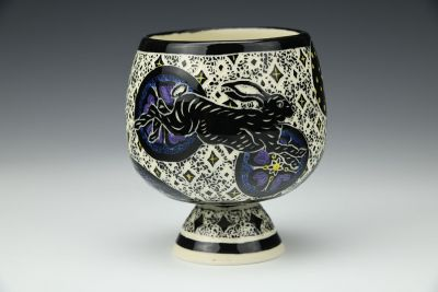 Rabbit and Moon Goblet