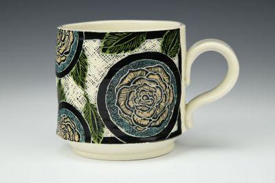 Peach Roses Mug