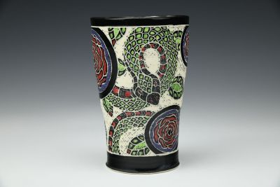 Snake and Red Rose Tumbler