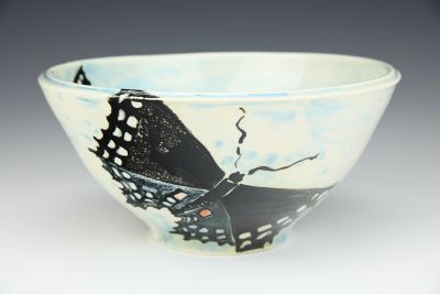Swallowtail and Mushroom Bowl