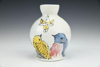Backyard Birds Vase