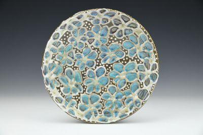 Turquoise Daisy Platter