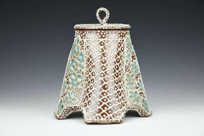 Flower Net Covered Jar