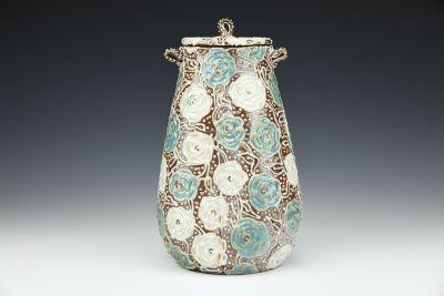 Begonia Covered Jar